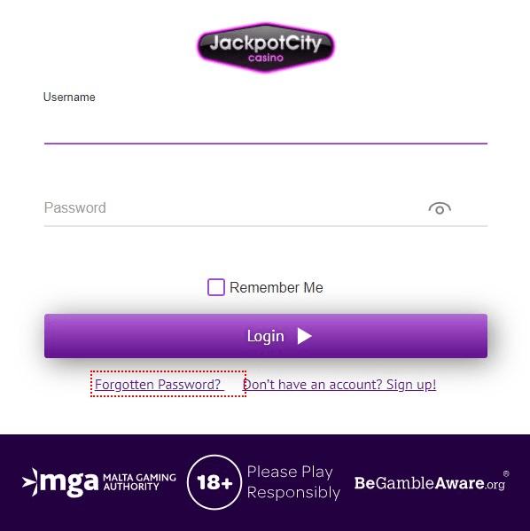 JackpotCity login